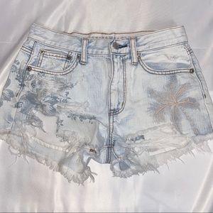 AEO Vintage Hi-Rise Festival Denim Shorts, size 2